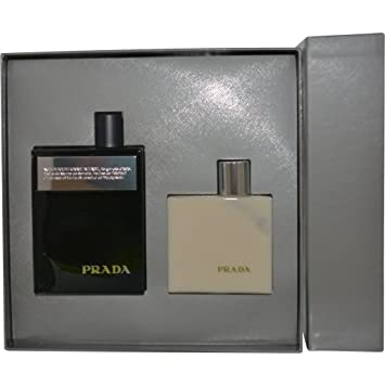 24465a2bfa44 Amazon.com   Prada Amber Pour Homme Intense 2 Piece Set Includes  3.4 oz  Eau de Parfum Spray + 3.4 oz After Shave Balm   Beauty