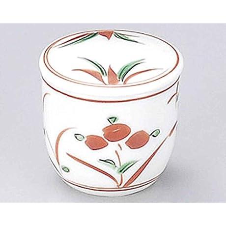 Akae Flower 2inch Set Of 10 Red Pepper Cases White Porcelain Made In Japan