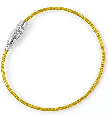 Juego de cuerda de alambre de acero inoxidable llavero Cable ...