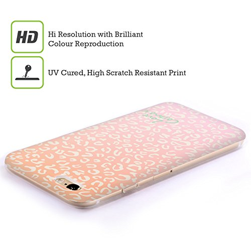 Official Cosmopolitan Peach Leopard Pastels Soft Gel Case for Apple iPhone 4 / 4S