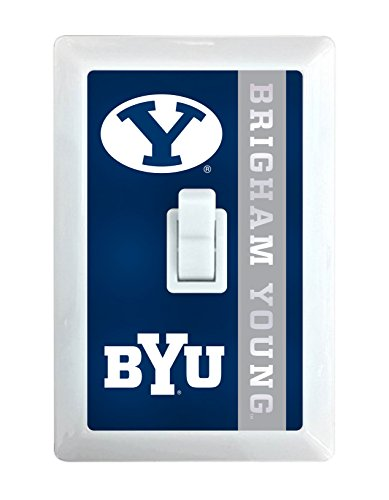 NCAA BYU Cougars LED Illuminated Light Switch Cover-Brigham Young University Light Switch Night Light