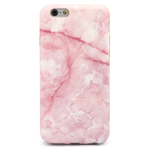 GOLINK iPhone 6/6S Girl Case, Marble Series IMD Printing Slim-Fit Ultra-Thin Anti-Scratch Shockproof Dust Proof Anti-Finger Print TPU Case for iPhone 6/6S (4.7 inch) - Pink Marble