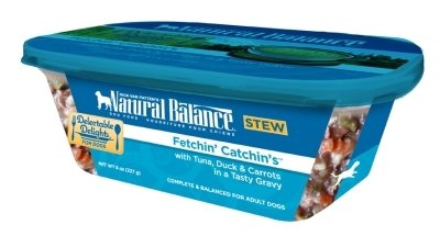 NATURAL BALANCE PET FOODS - FETCHIN'CATCHIN'S STEW DOG Case 12/8OZ DELECTABLE DELIGHTS