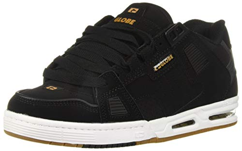 Globe Men's Sabre Skate Shoe, Black/Gold, 7.5 M US