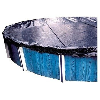 GLI Aquacover Estate 24-Feet Round Solid Winter Cover System for Above Ground Pools, Appliances for Home