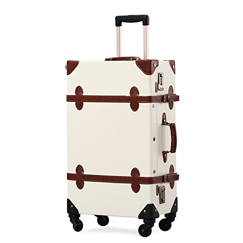 vintage luggage with wheels - 9