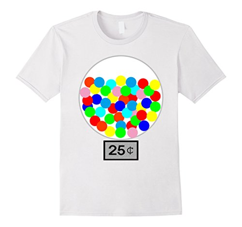 Mens Halloween Costume DIY Idea Gumball Machine Dispenser T Shirt Large White - Ideas For Halloween Costumes Diy