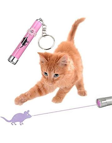 Juguete para gatos con luz led de Beralink, diseño de ratón, llavero