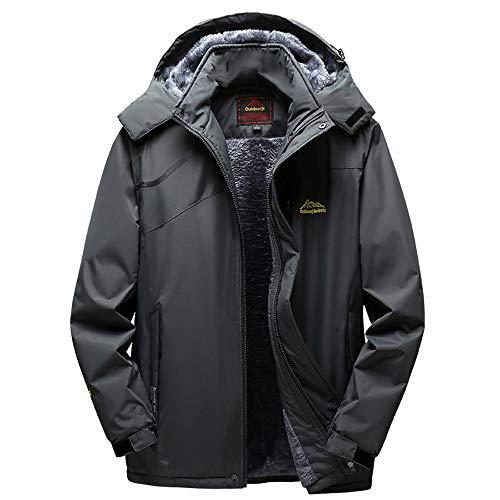 (iHPH7 Mens Winter Outdoor Cashmere Thickening Hoodie Zipper Sport Outdoor Assault)