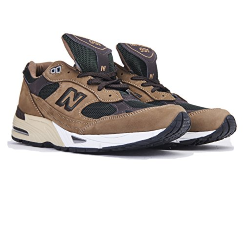 Sneaker New Balance 991 in nubuck marrone e mesh marrone