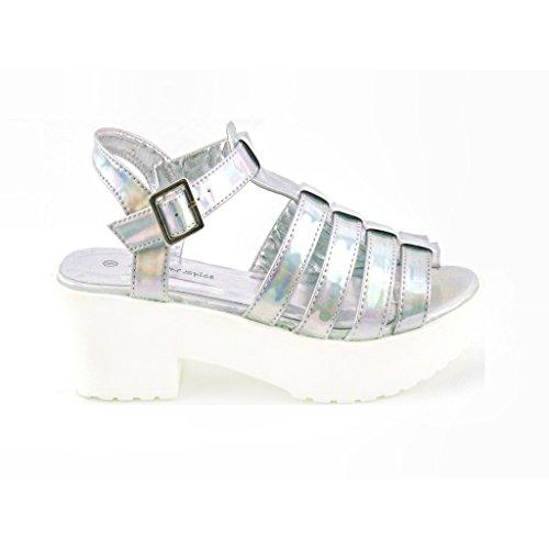 AMBASSADOR - Zapatos de tacón  mujer Plateado - plata