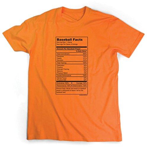 Baseball Jersey Orange Axl (Baseball Facts T-Shirt   Baseball Tees by ChalkTalkSPORTS   Orange   Adult X-Large)