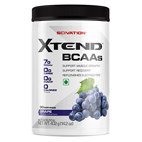 Scivation Xtend BCAA Powder, 7g BCAAs, Branched Chain Amino Acids, Keto Friendly, Glacial Grape, 30 Servings