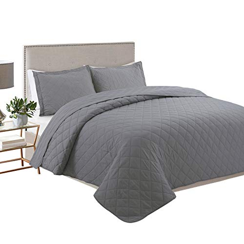 YESHOME 2 Piece Quilt Set Diamond Pattern Quilt Lightweight Soft Bedspread Coverlet for Spring and Summer Twin-68