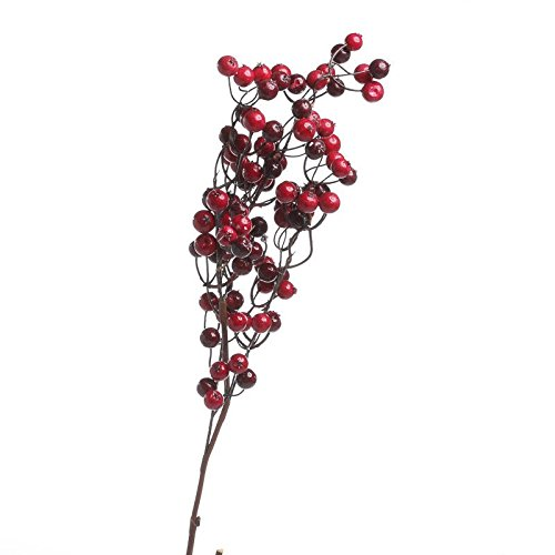 Stems Mixed (Factory Direct Craft Group of 4 Festive Mixed Red Artificial Berry Stems for Holiday and Home Decor)