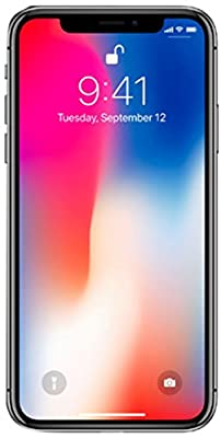 Apple iPhone X, Fully Unlocked, 64GB - Space Gray (Renewed)