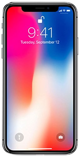 Apple iPhone X, Fully Unlocked, 256GB - Space Gray (Renewed)