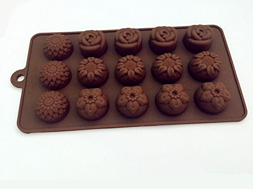 Drhob 1 piece 12 of mini flower silicone cake mould