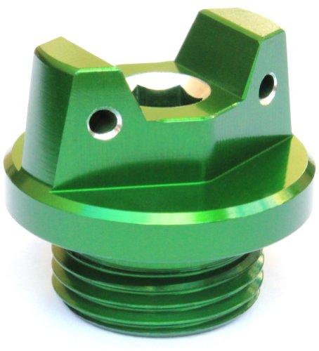 MotoSculpt Oil Fill Cap Plug (GREEN) for Kawasaki KFX450R KLX450R KX250F KX450F (Best Oil For Kx450f)