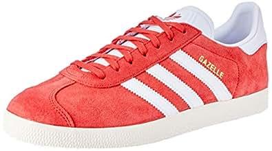 adidas, Gazelle Trainers , Unisex Shoes, Tactile Red/White/CreamWhite, 6.5 US Men / 7.5 US Women