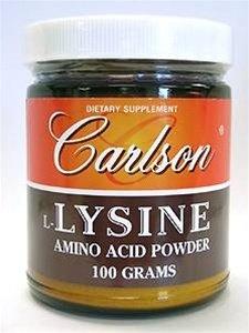 Carlson Labs L-Lysine en poudre, 100g