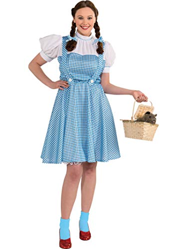 The Wizard Of Oz Dorothy Halloween Costume (Rubie's Women's Plus Size Wizard of Oz, Deluxe Dorothy Costume, Multicolor,)