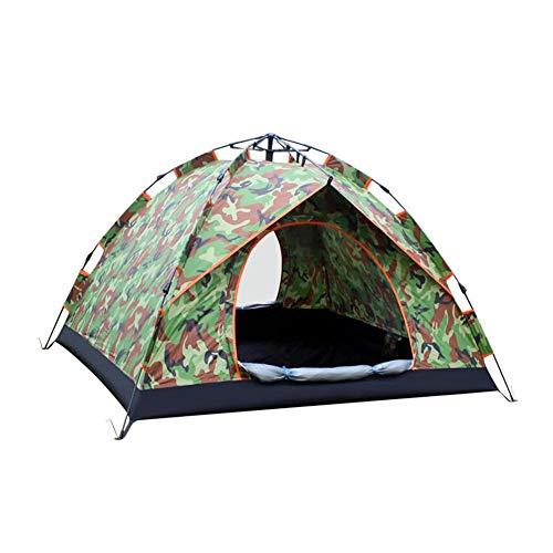 社会学スキャンダラスセラーDALL テント テント キャンプ 軽量 ユニセックス アウトドア ドームテント 利用可能 3-4人 (色 : 迷彩)