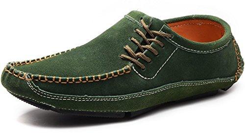 Conduite Odema Bateau Yrxz1264wc Chaussures PU Hommes Hommes Suède Désigne Pour vert Conduite Docksides waUrqIa