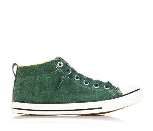 CONVERSE - Sneaker verde stringata, in camoscio, Bambino, Ragazzo