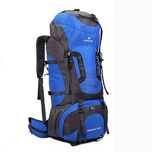 Mochila bandolera hombre doble montañismo al aire libre profesional gran capacidad bolsa , orange Blue
