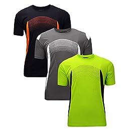 ZITY Athletic T-Shirt Sportswear Men's 100% Polyester Moisture-Wicking Training Short-Sleeve Quick Dry T-Shirt