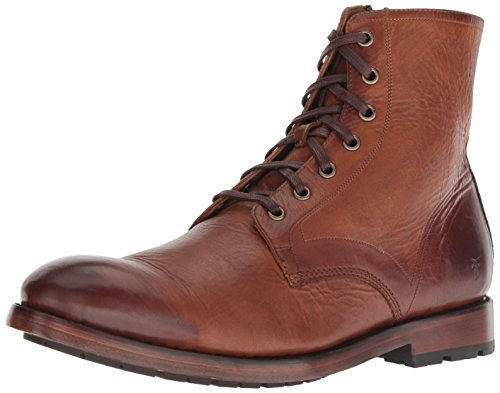 FRYE Men's Bowery LACE UP Combat Boot, Cognac, 9.5 M M US ()