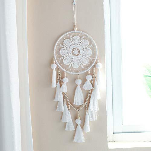 (Waldenn Dreamcatcher White Dream Catcher Native Indian American Car Home Decor Gift | Model DCR - 2071)