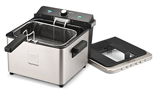 Toastmaster TM-168DF 4-Liter Stainless Steel Deep Fryer, Black