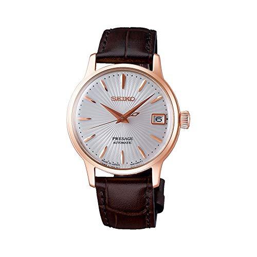 (SEIKO PRESAGE Automatic Ladies Cocktail 'Bellini' Rose Gold Watch SRP852J1 )