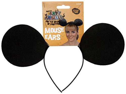 Smiffy's Women's Mouse Ears On Headband, Black, One Size (Halloween Mouse Ears Uk)