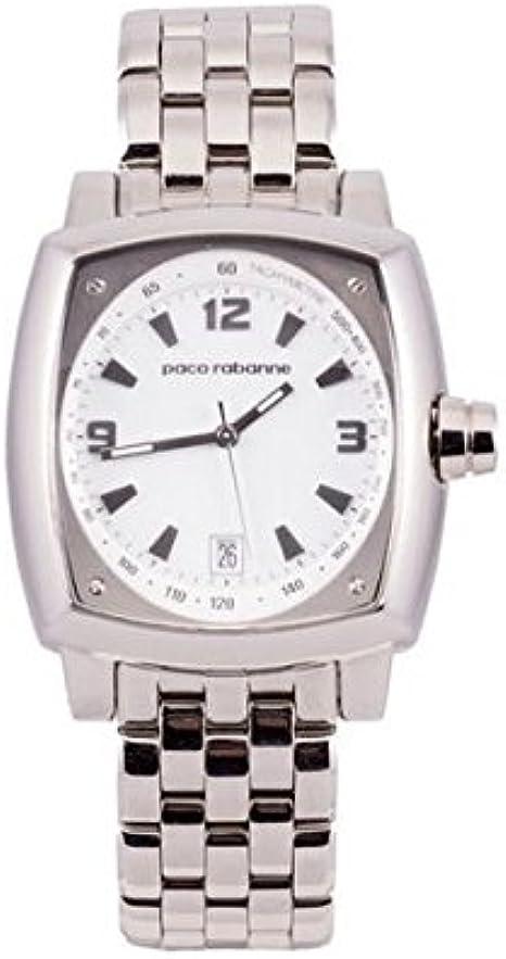 Paco rabanne - Reloj de Cuarzo Man 81401 Blanco: Amazon.es: Relojes