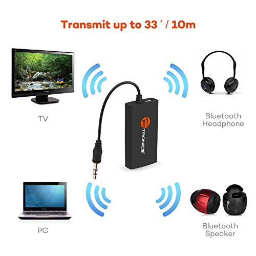 taotronics wireless portable bluetooth transmitter. Black Bedroom Furniture Sets. Home Design Ideas