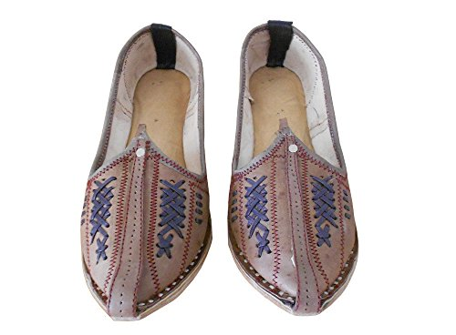 Kalra Creations Traditional Handmade Ethnic Men Shoes Indian Mojaries Leather Espadrilles UK 6.5 dkKAw