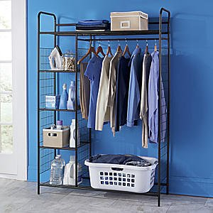 Exceptional Ultimate Organizer, Free Standing Portable Closet System, 48 Inches Wide X  70 Inches