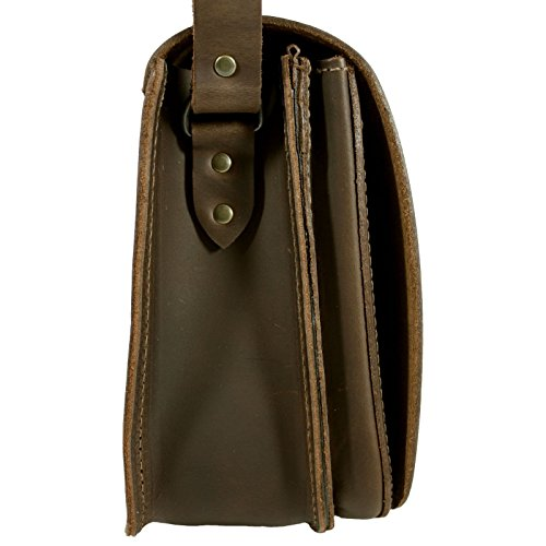 DELARA Borsa da caccia in pelle ranger, Made in Germany