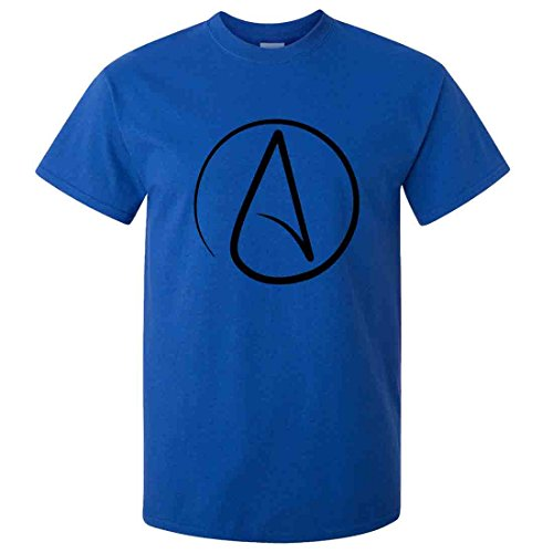 Atheist Black Print T-Shirt/tee - Antique Royal -