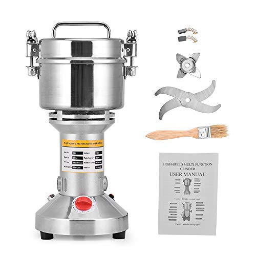 Giraffe-X 500g Electric Herb Grain Spice Grinder Cereal Mill Grinder Flour Powder Machine,Portable High Speed (Best Grain Mill For Fine Flour)