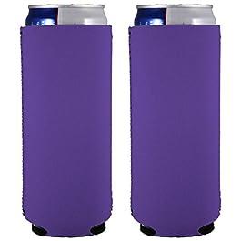 Blank Neoprene Slim Can Coolie (2, Purple)