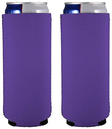 Blank Neoprene Slim Can Coolie (2, Purple) |