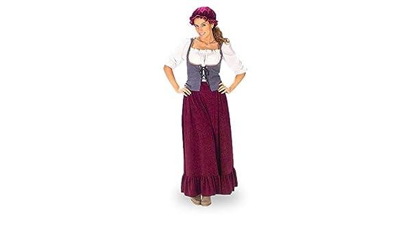 Disfraz de criada medieval - traje de la Edad Media para mujer ...