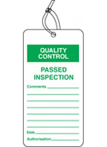 Caledonia Signs 59775 Passed Inspection QC Tag (Pack of 10) Caledonia Signs Ltd