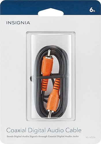 Amazon.com: Insignia - 6 Digital Coaxial Audio Cable - Black: Home Audio & Theater