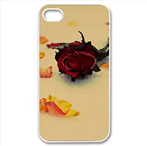 Roses in Snow Watercolor style Cover iPhone 4 and 4S Case (Winter Watercolor style Cover iPhone 4 and 4S Case)