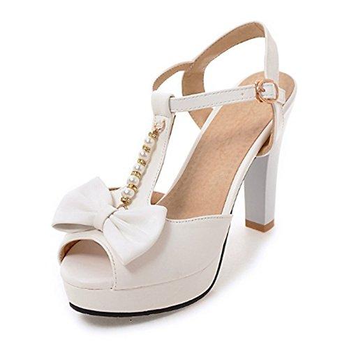 peep remache Office parte Verano talón hebilla Almond Zapatos mujer de PU sandalias Bowknot ZHZNVX toe para Novedad Stiletto Primavera noche comodidad Carrera S6wqPxxT